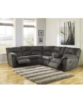 Ashley Furniture Sala de 2 piezas reclinable Pewter Gris