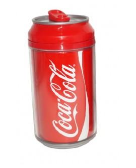 Vaso doble pared con tapa Coca-Cola Rojo