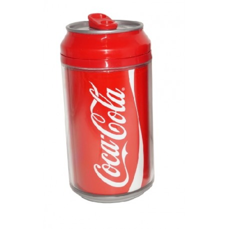 Vaso doble pared con tapa Coca-Cola Rojo - Envío Gratuito