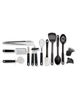 Gibson Combo set de utensilios con 20 piezas Negro