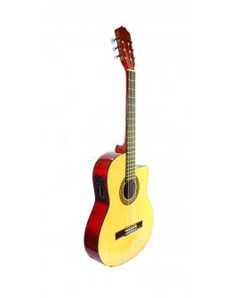 La Sevillana Guitarra electro-acústica Natural - Envío Gratuito