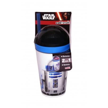 Siglo XXI Vaso botanero de Star Wars con popote - Envío Gratuito