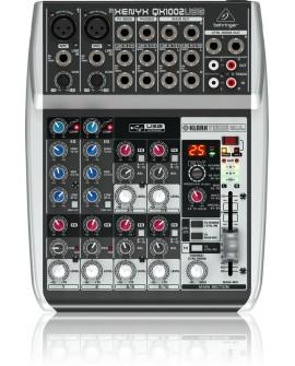 Behringer Mezcladora QX1002-USB Plata - Envío Gratuito