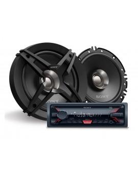Sony Paquete de autoestéreo DSXA100U/XSFB161E Negro - Envío Gratuito
