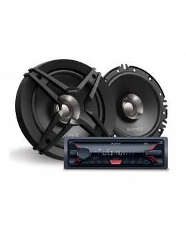 Sony Paquete de autoestéreo con bocinas DSX-A410BT/XS-FB161 Negro - Envío Gratuito
