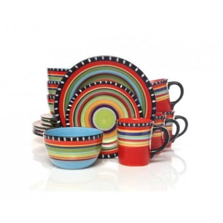 Gibson Vajilla de cerámica con 16 piezas - Envío Gratuito
