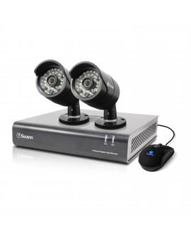 Swann DVR 4 canales con 2 cámaras análogas 720 píxeles Negro - Envío Gratuito