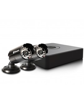 Swann Mini DVR 4 canales con 2 cámaras Negro - Envío Gratuito