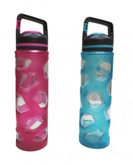 Botella deportiva de acrílico y silicón Diferentes colores