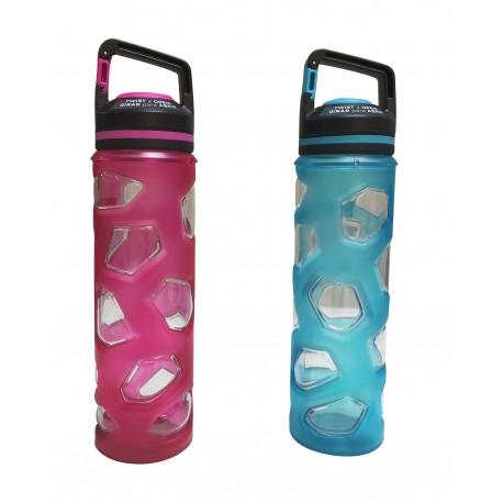 Botella deportiva de acrílico y silicón Diferentes colores - Envío Gratuito