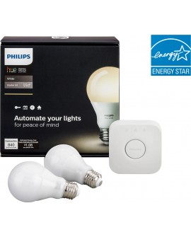 Philips Kit Hue white 9.5 watts A19 E26 Blanco - Envío Gratuito