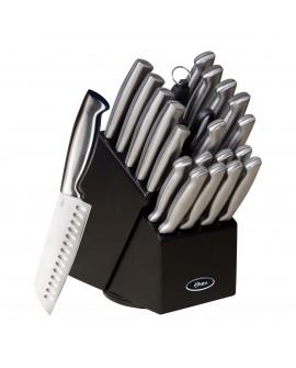 Oster Set de 22 cuchillos de acero inoxidable y con bloque Acero