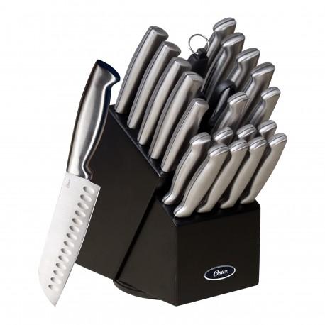Oster Set de 22 cuchillos de acero inoxidable y con bloque Acero - Envío Gratuito