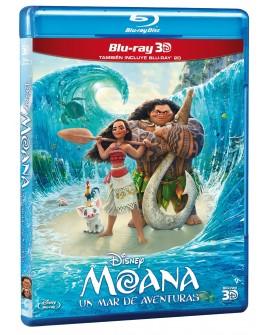 Moana: Un Mar de Aventuras (Blu-ray 3D/ Blu-ray) 2016 - Envío Gratuito