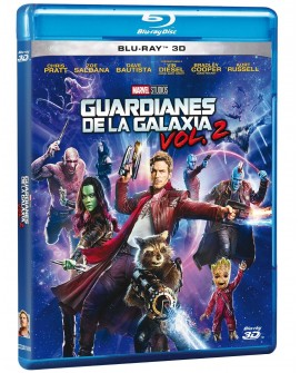 Guardianes de la Galaxia Vol. 2 (Blu Ray 3D) - Envío Gratuito