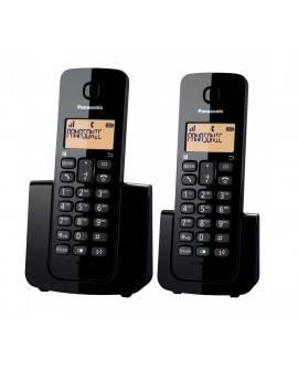 Panasonic Teléfono Inalámbrico Duo TGB112 Negro - Envío Gratuito
