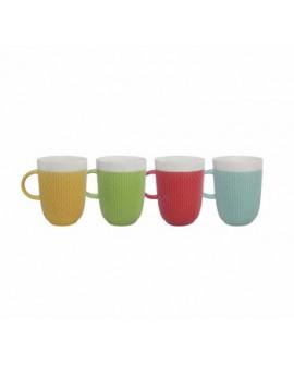 Crown Baccara Juego de tazas de porcelana 4 piezas Distintos colores