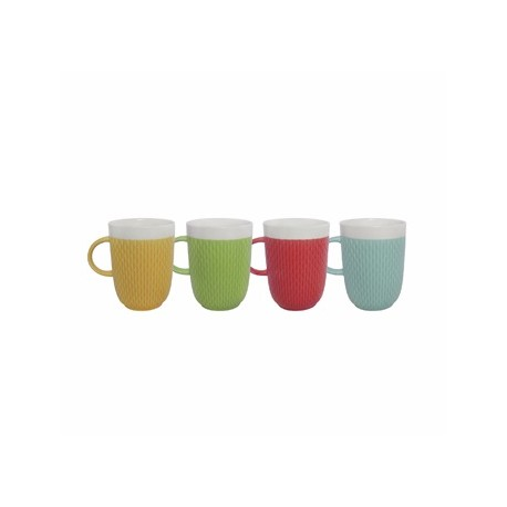 Crown Baccara Juego de tazas de porcelana 4 piezas Distintos colores - Envío Gratuito