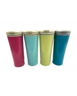 Top Choice Termo de 450 ml de doble pared con tapa Distintos colores
