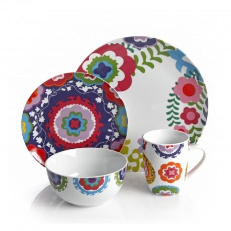 Gibson Vajilla de porcelana con 4 piezas - Envío Gratuito