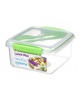Sistema To Go Hermético para lunch de 1.2 lts con cubiertos Distintos Colores