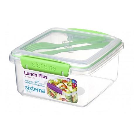 Sistema To Go Hermético para lunch de 1.2 lts con cubiertos Distintos Colores - Envío Gratuito