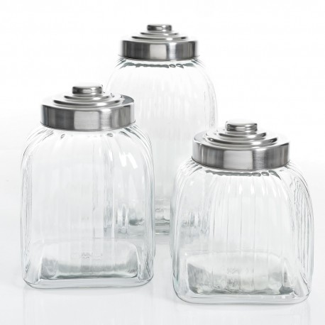 Gibson Set 3Pz Canister C/Tapa Acero - Envío Gratuito