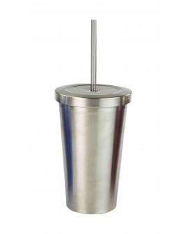 HDS Vaso de acero inoxidable con popote de 473 ml Distintos colores