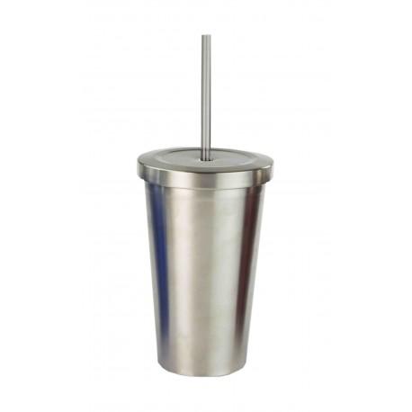 HDS Vaso de acero inoxidable con popote de 473 ml Distintos colores - Envío Gratuito