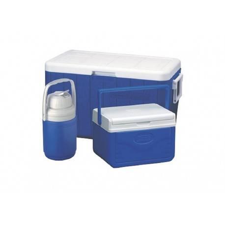 Coleman Combo Hielera 48 Qts Azul - Envío Gratuito